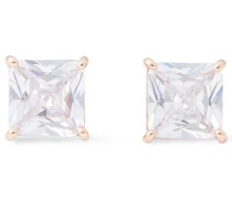 Save The Date Rose -tone Crystal Earrings