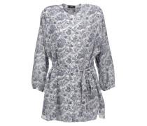 Margretha printed silk-georgette blouse