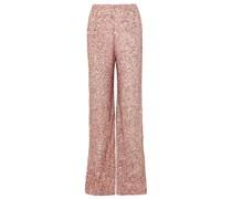 Sequined Chiffon Wide-leg Pants