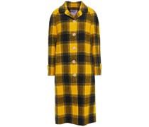 Checked Wool-felt Coat