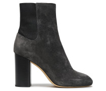 Woman Suede Ankle Boots Dark Gray