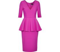 Lola Pleated Cady Peplum Dress