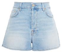 Faded Denim Shorts