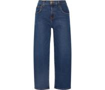 The Barrel Crop high-rise wide-leg jeans
