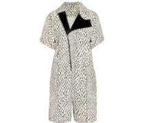 Printed Woven Playsuit Creme