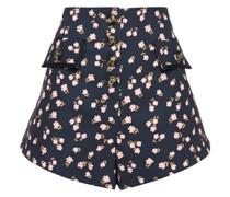 Shorts aus Twill mit Floralem Print