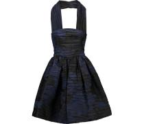 Silk-blend Jacquard Halterneck Dress Schwarz