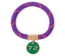 Location Gold-tone, Cord And Enamel Bracelet Indigo