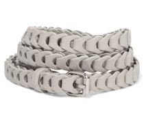 Braided Leather Belt Stein