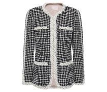 Woman Cotton-blend Tweed Jacket Black