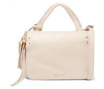 Tasseled leather shoulder bag