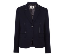 Hutton wool-twill blazer