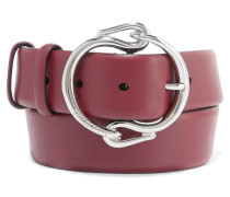 Leather Belt Burgunder