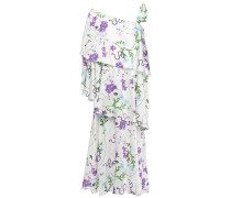 Loie Tiered Floral-print Cotton And Silk-bleed Midi Dress