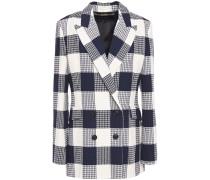 Harleston Double-breasted Checked Cotton-blend Bouclé-jacquard Blazer