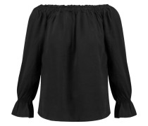 Mia Off-the-shoulder Chambray Top Schwarz