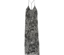 Dalhia Printed Georgette Maxi Dress Schwarz
