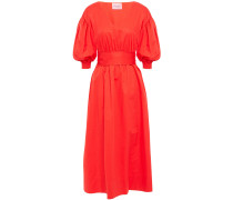 Gathe Cotton-poplin Midi Dress