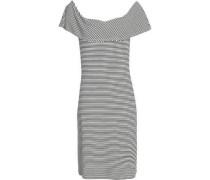 Layered striped jersey dress