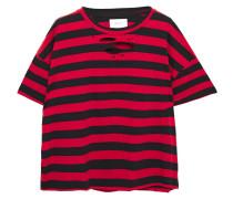 The Roadie Gestreiftes T-shirt aus Baumwoll-jersey in Distressed-optik