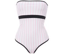 Bb Reversible Cutout Striped Bandeau Swimsuit