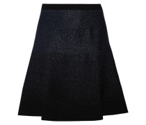 Metallic Stretch-knit Mini Skirt Navy