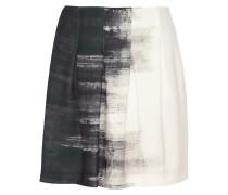 Printed Satin Mini Skirt Weiß