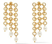 Tansy 24-karat -plated Freshwater Pearl Earrings