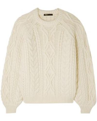 Cable-knit Sweater Ecru