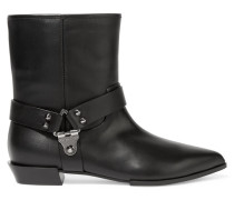 Chicago Studded Leather Ankle Boots Schwarz