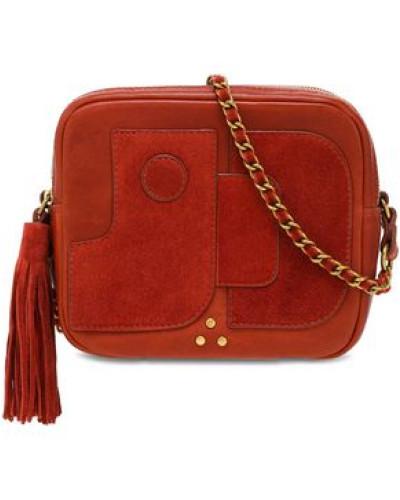 Jérôme Dreyfuss Damen Tasseled paneled leather and suede shoulder bag