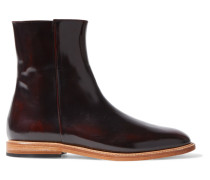 Rod Patent-leather Ankle Boots Merlot