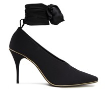 Stretch-jersey And Crepe De Chine Pumps