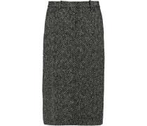 Ildiko Wool-blend Tweed Midi Skirt Schiefer