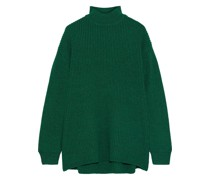 Sarah Open-back Ribbed Wool-blend Turtleneck Sweater