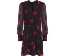 Danette Gathered Floral-print Silk-chiffon Mini Dress