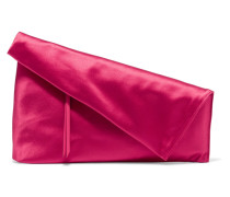 Satin Clutch Fuchsia