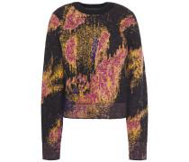 Fleur Metallic Jacquard-knit Sweater