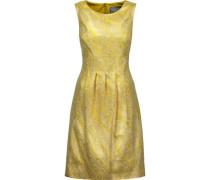 Pleated metallic cloqué dress