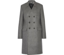 Double-breasted Boiled Wool Coat Grau
