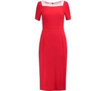 Davina wool-crepe dress
