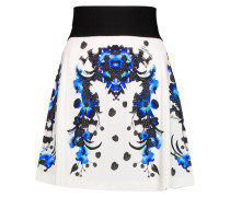 Printed Jersey Mini Skirt Ecru