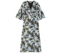 Floral-print Silk Crepe De Chine Wrap Dress