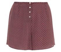 Bedruckte Shorts aus Crêpe De Chine