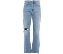 Woman Distressed Boyfriend Jeans Light Denim