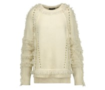 Karli Fringed Wool, Silk And Cashmere-blend Sweater