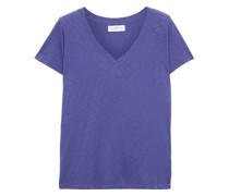 T-shirt aus Baumwoll-jersey mit Flammgarneffekt