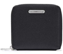 Woman Pebbled-leather Wallet Black