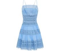 Joya Paneled Cotton-blend Guipure Lace And Voile Mini Dress