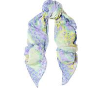 Printed Silk Crepe De Chine Scarf Flieder